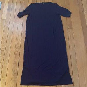 Gorgeous Eileen Fisher navy blue dress size S EUC